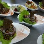 Салат с опятами и каперсами