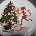 Салат «Сельдь под шубой» по-новогоднему