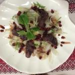 Салат из фенхеля и маринованым пеленгасом