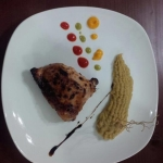 Бедро цыплёнка с нежным кукурузно-имбирным соусом