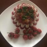 Галантин рыбный и помидоры черри