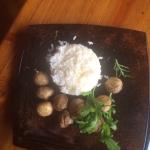 Шампиньоны на гриле с отварным рисом